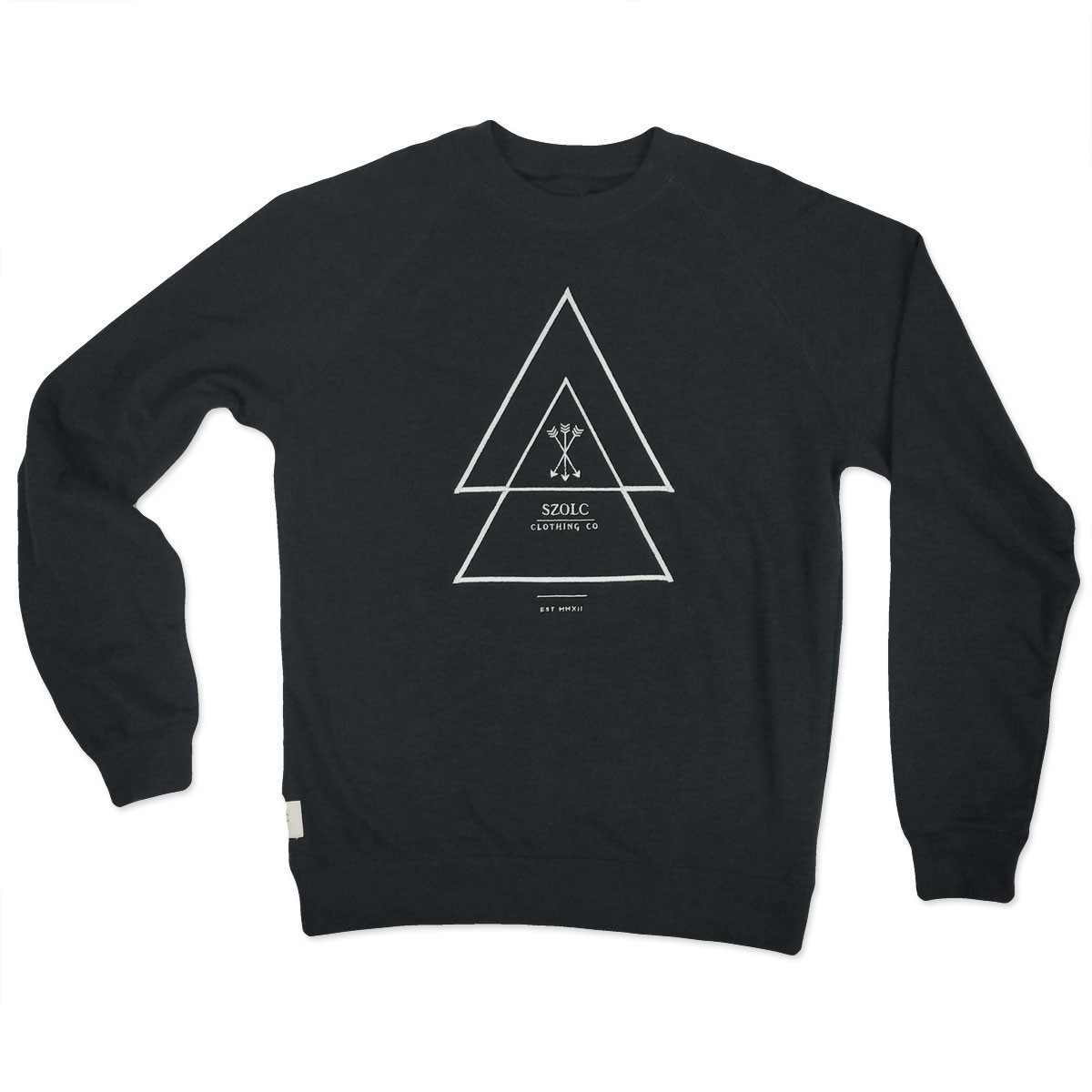 Embroidered Arrows Black Sweater