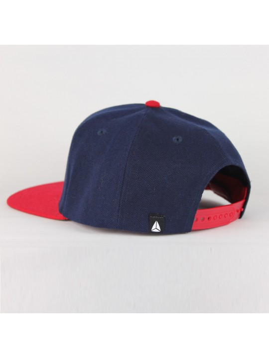 Navy/Red Snapback Cap