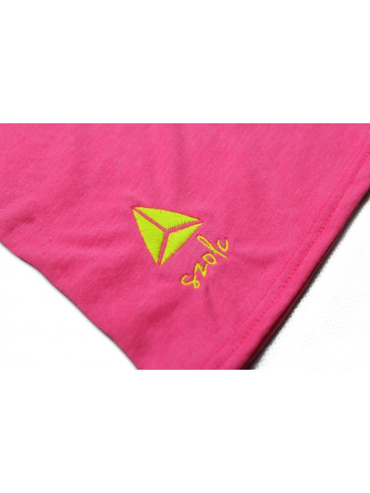 Fluor Pink Embroidered Tshirt