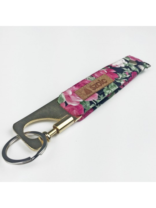 Flowers Keyring Black