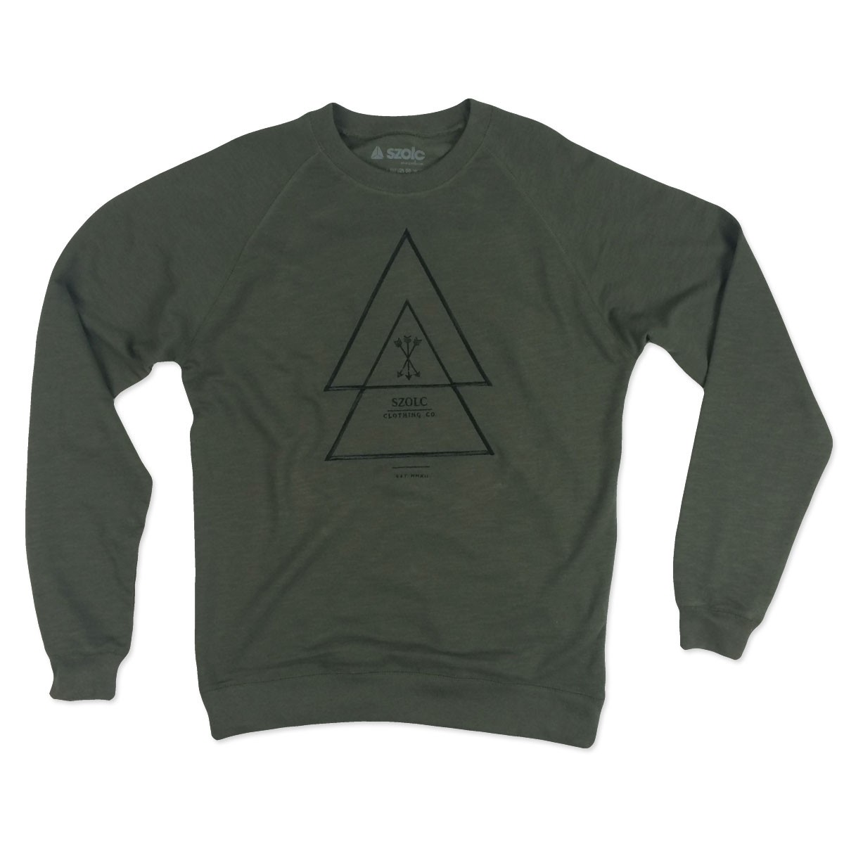 Embroidered Arrows Khaki Sweater