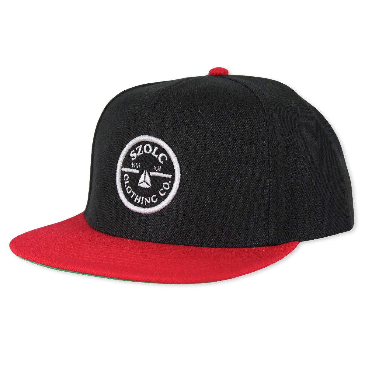 Black/Red Snapback Cap