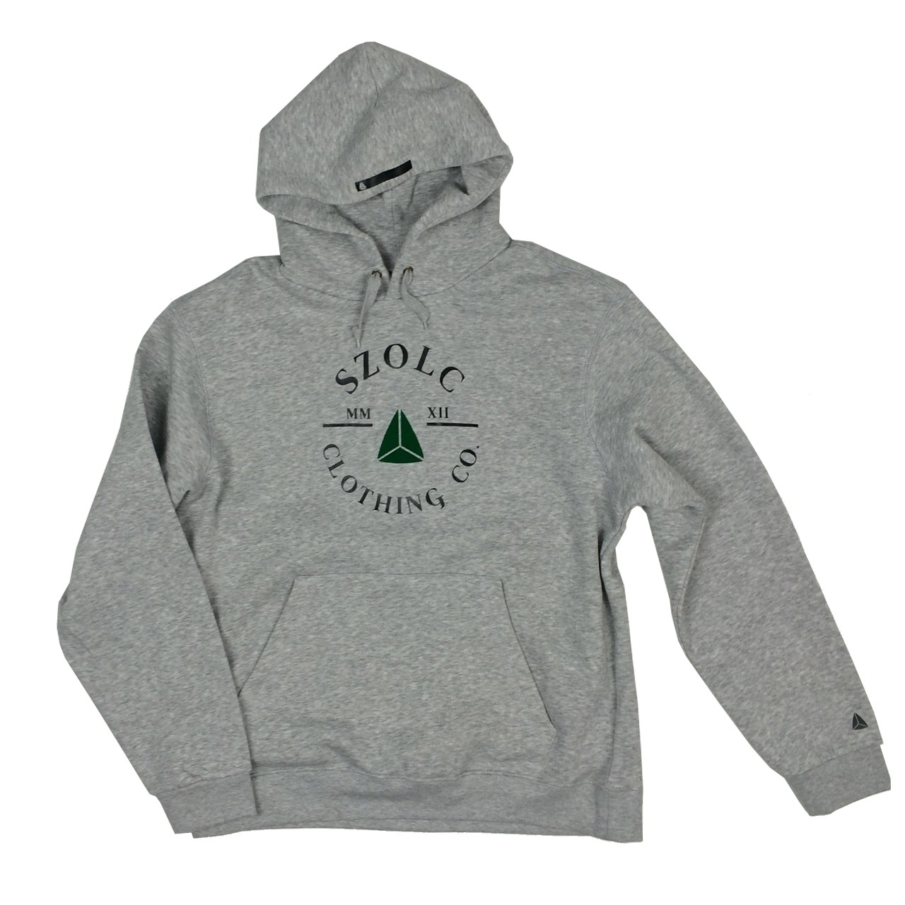 Retro Badge Grey Hoodie