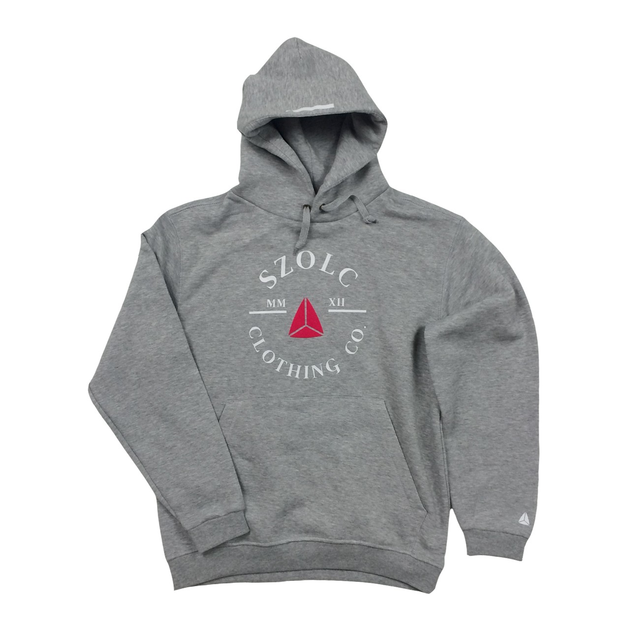 Retro Badge Grey - Pink Hoodie