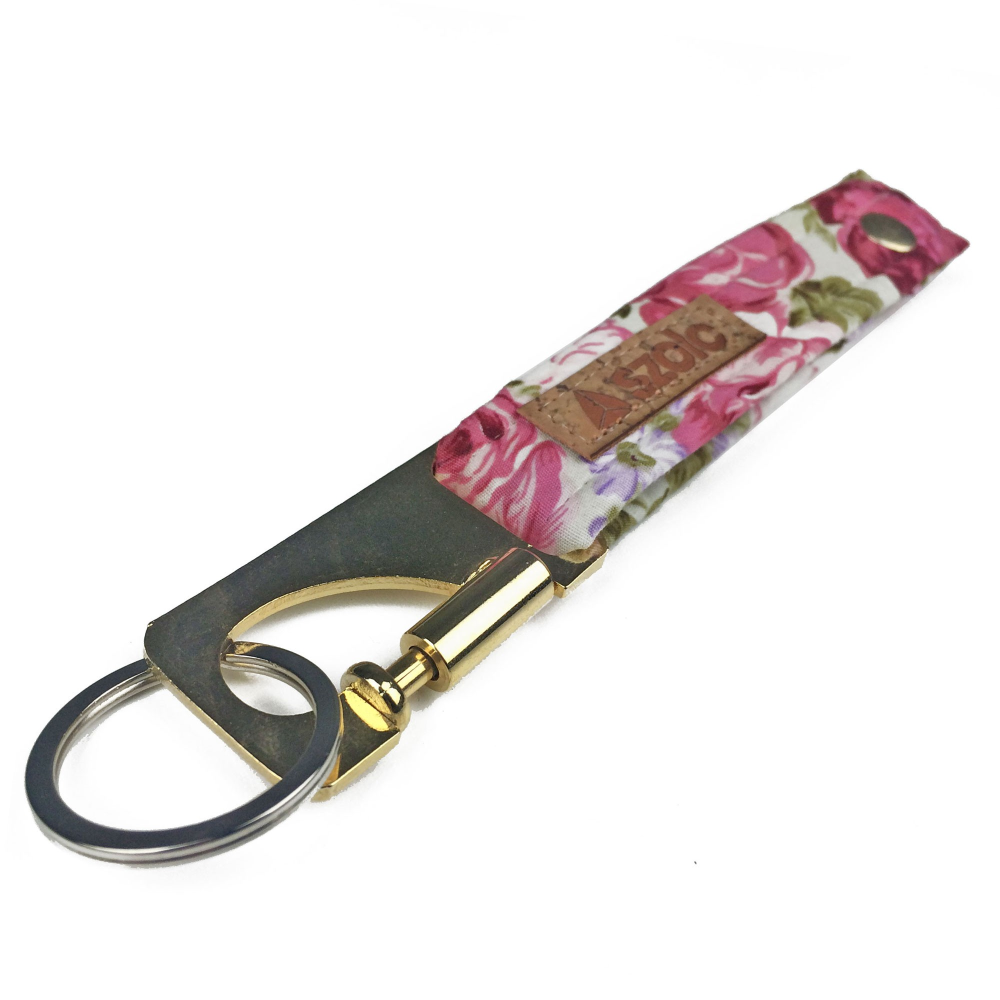 Flowers Keyring White