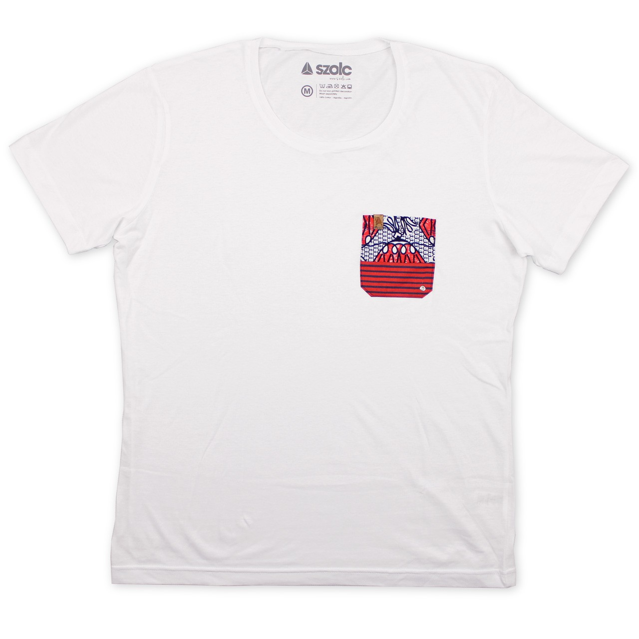 Red Pocket White Tshirt