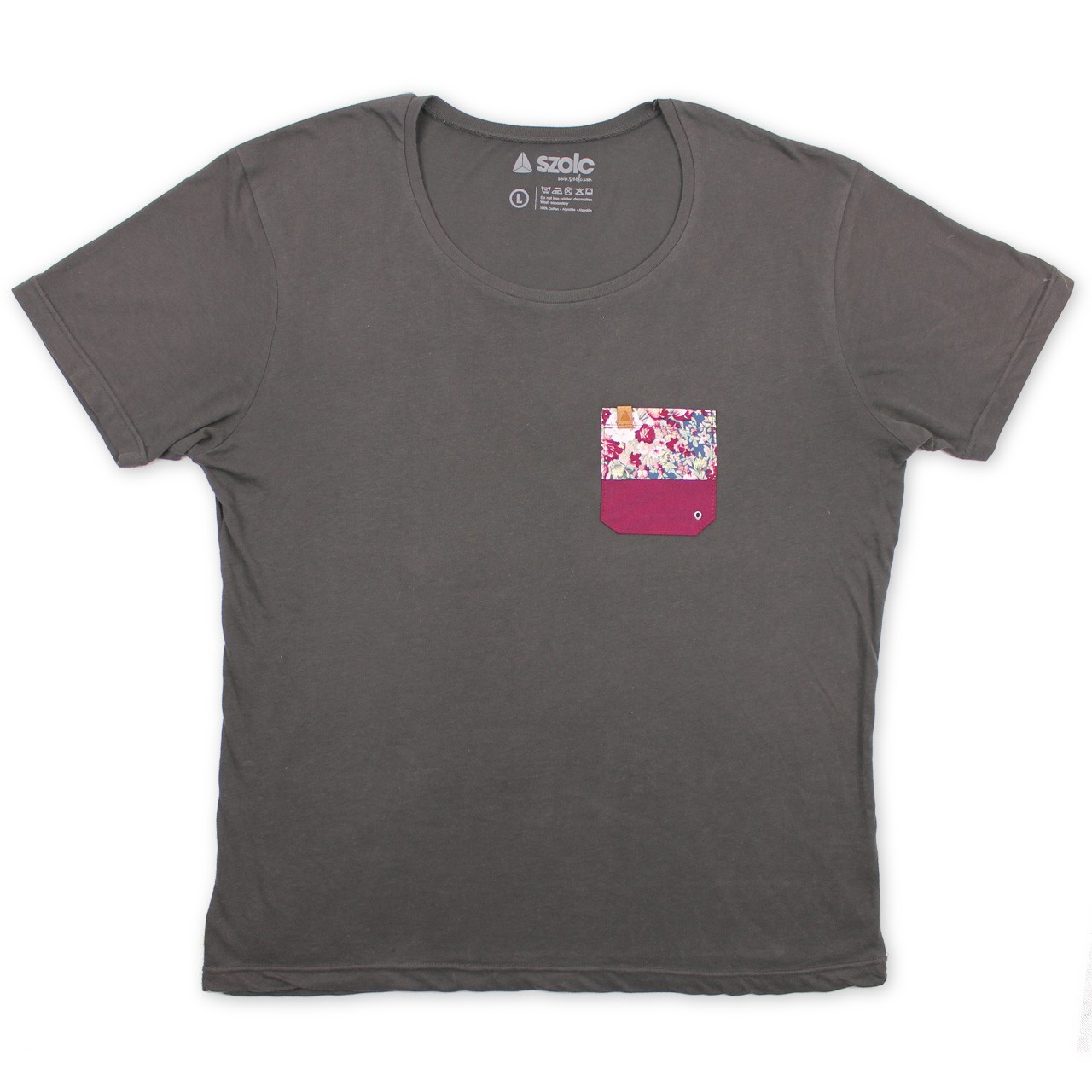 Flower Pocket Grey Tshirt