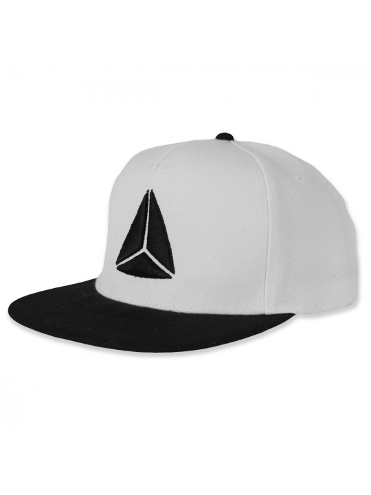 White/Black Snapback Cap