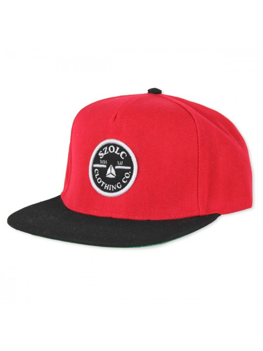 Red/Black Snapback Cap