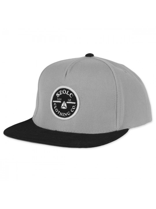 Grey/Black Snapback Cap