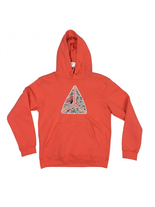 Salmon Embroidered Hoodie