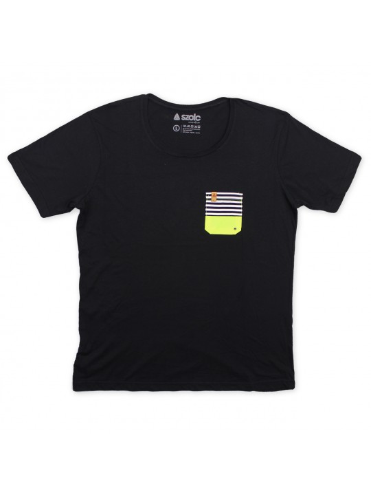 Fluor Pocket Black Tshirt