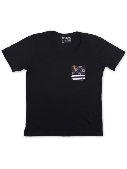 Black Pocket Black Tshirt